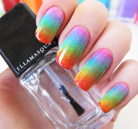 Illamasqua Pride Rainbow Nails3a Nail Designs With
