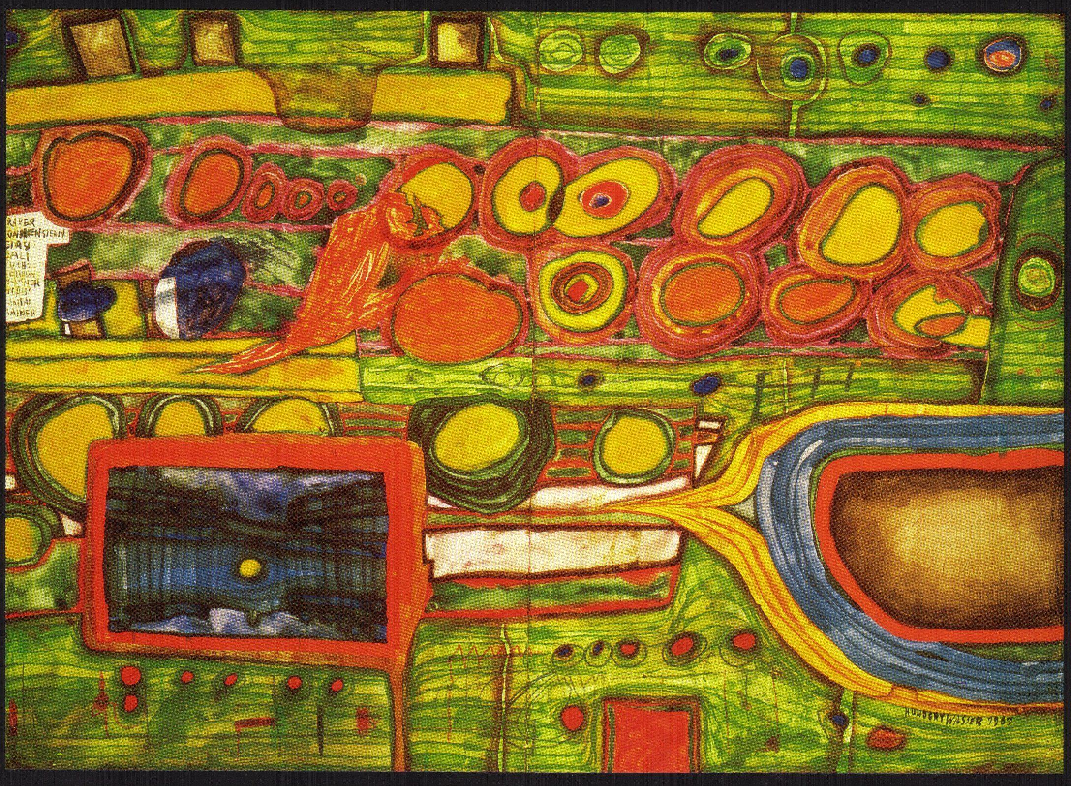 Hundertwasser-Paintings-1961-the-hokkaido-steamship.jpg (2177×1597 ...