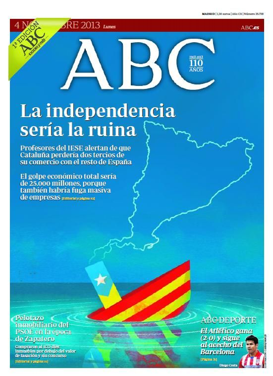Ya puedes consultar la portada de ABC del 4 de noviembre
