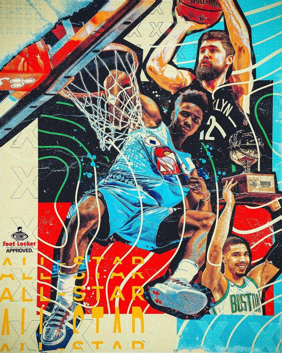 Nba All Star Saturday Night Recap What Was Your Fav Event Digital Illustration For Footlocker Au Sports Graphics Nba Wallpapers Basketball Wallpaper