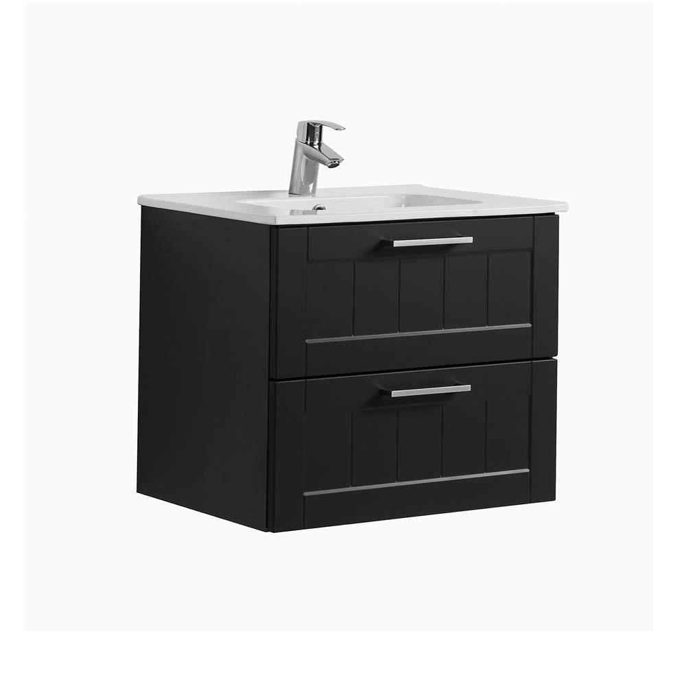 Badezimmer Waschbeckenschrank In Dunkelgrau Paneel Design 60 Cm Breit Jetzt  Bestellen Unter: Https:/