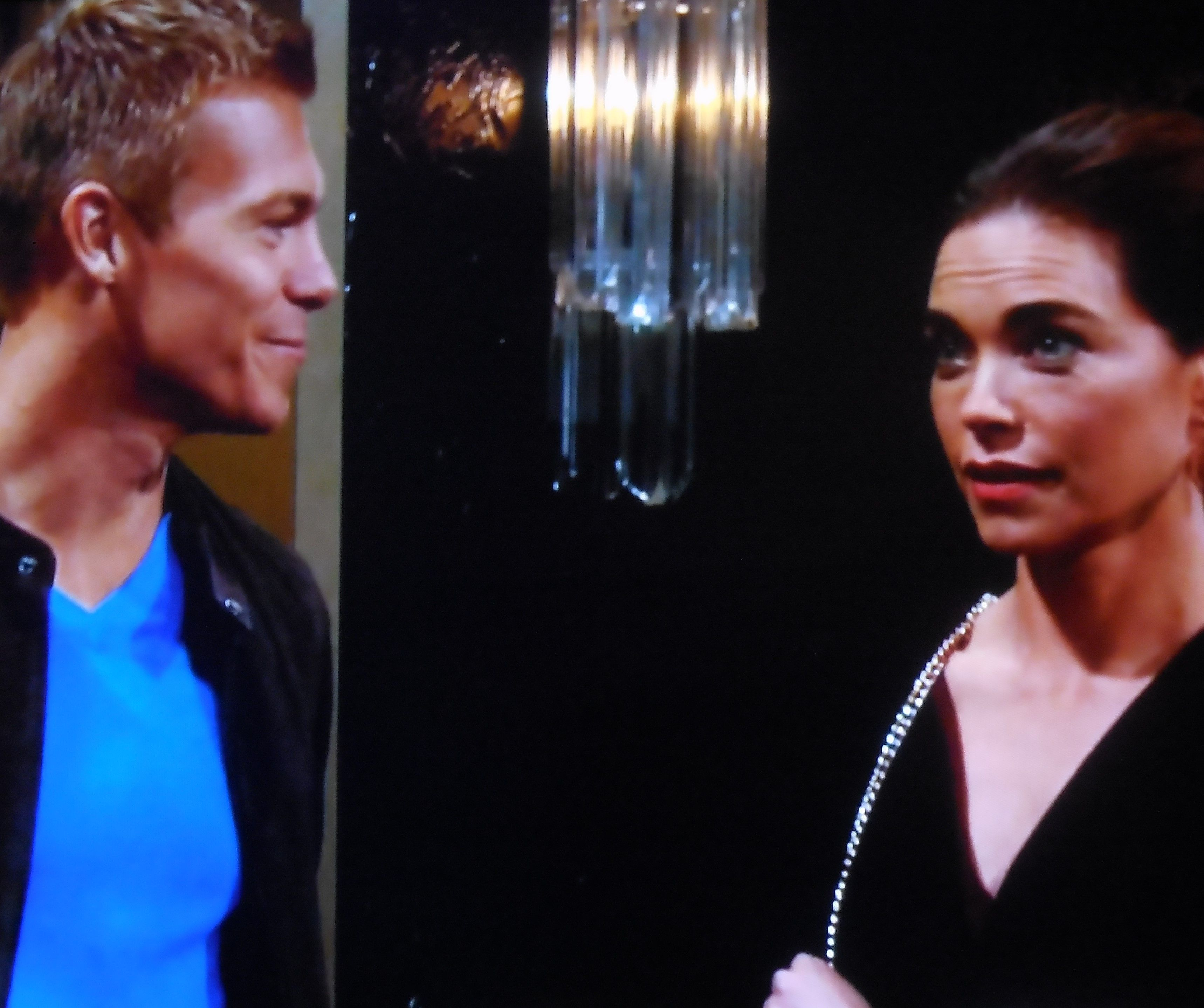 Victoria's surprised to find out that Travis and Ashley knew each other.