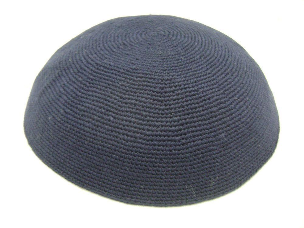 Dmc Handmade In Israel Knitted Yarmulke Kippah Hat 18Cm | Pinterest