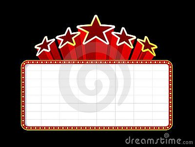 best service 9012c 1a621 Free Printable Marquee Template   Movie Marquee Template