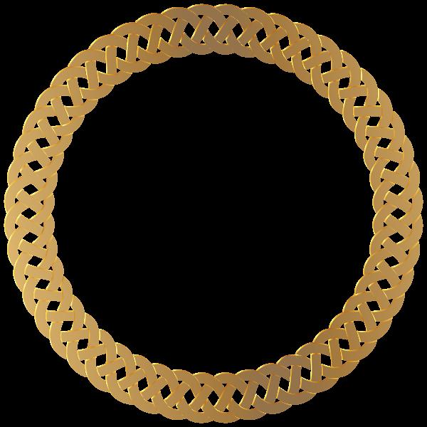 Golden Round Frame Border Transparent Png Clip Art Gold Circle Frames Frame Border Design Round Frame