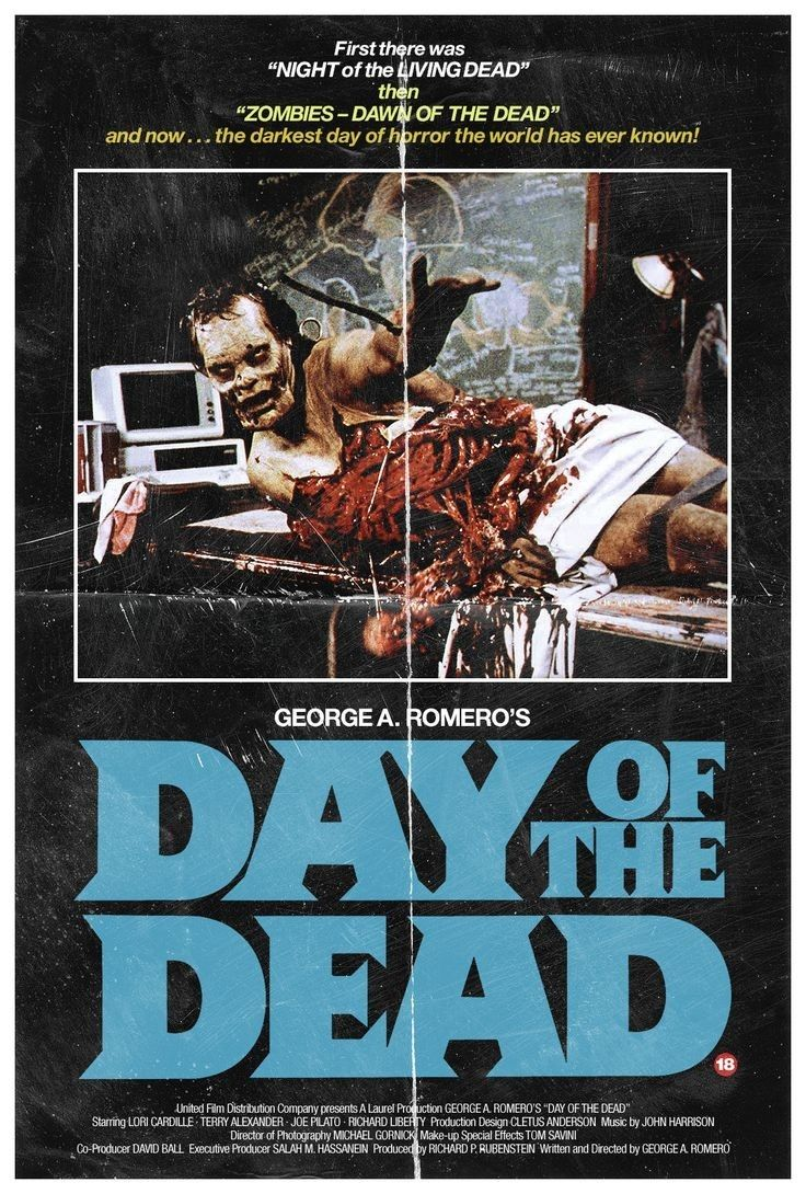 Day of the Dead (1985) (With images) Zombie movies