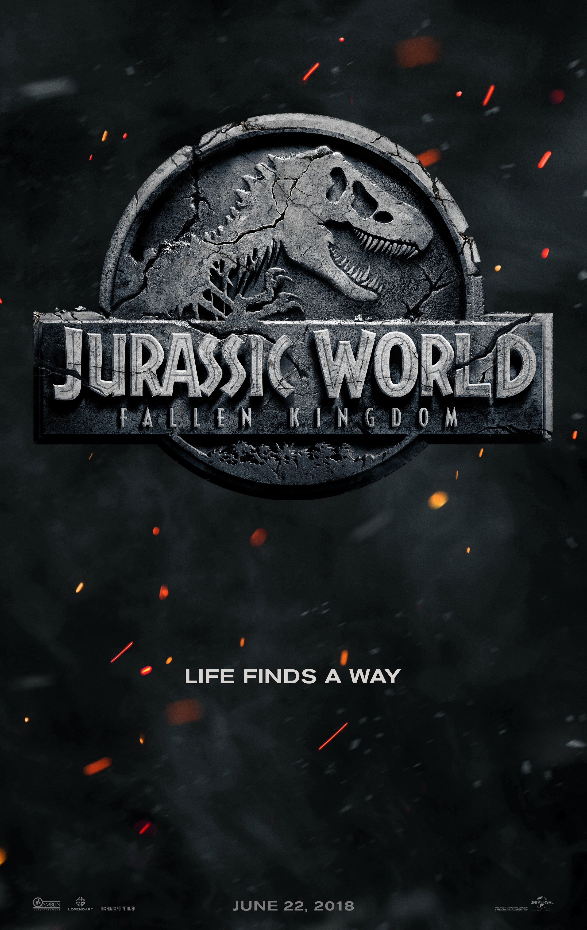 Jurassic World 2 Gets An Official Title And Teaser Poster Https Www Geekbroadside Com Blog 2017 6 22 Jur Jurassic World Movie Falling Kingdoms Kingdom Movie