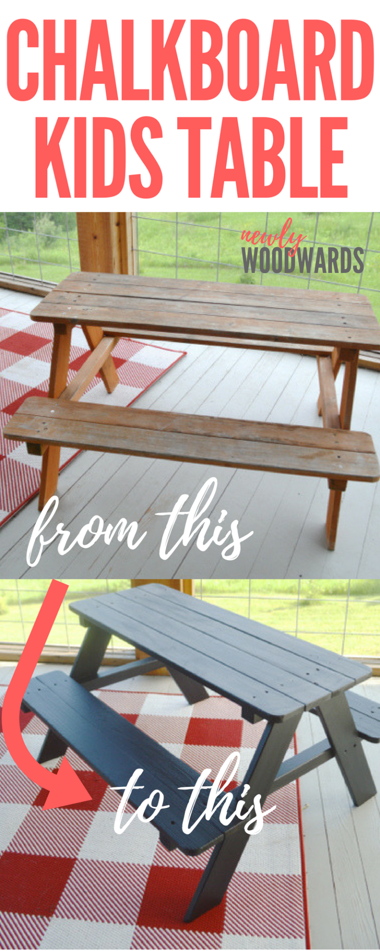 Painting A Picnic Table With Chalkboard Paint Our Best