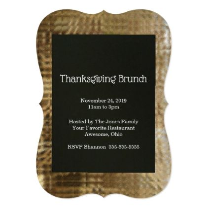 Customizable Thanksgiving Dinner Invitation Card Dinner - invitation card event