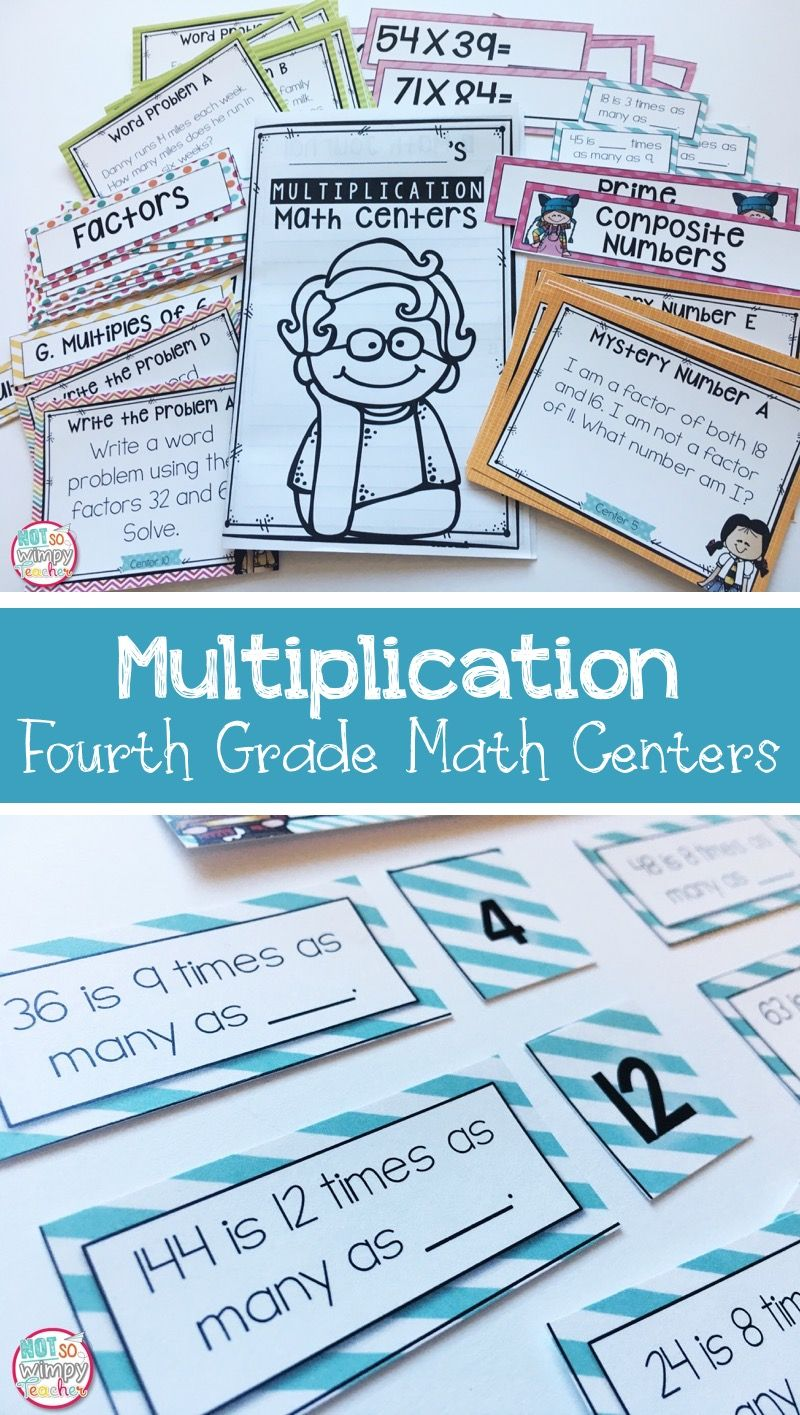 Multiplication Fourth Grade Math Centers | Multiplication, Word ...
