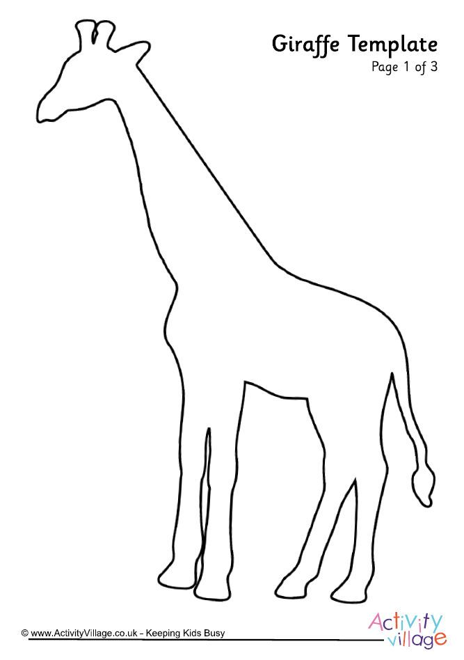 Giraffe outline for coloring pages ~ Žirafa šablona 2 | šablony | Zvířata, Šablony a Omalovánky