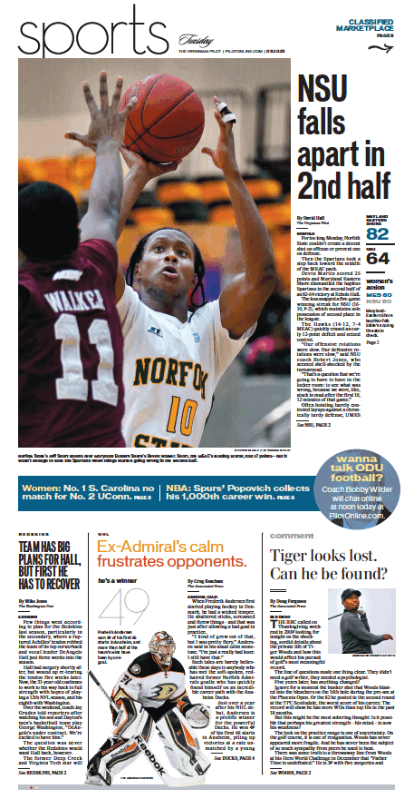 Sports, Feb. 10, 2015. (With images) Newspaper layout