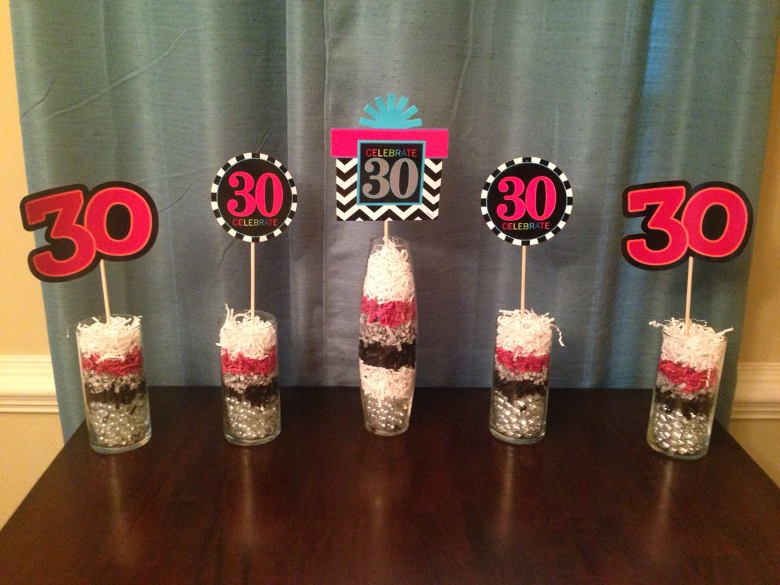 Centerpieces, 30th birthday party Centerpieces, affordable