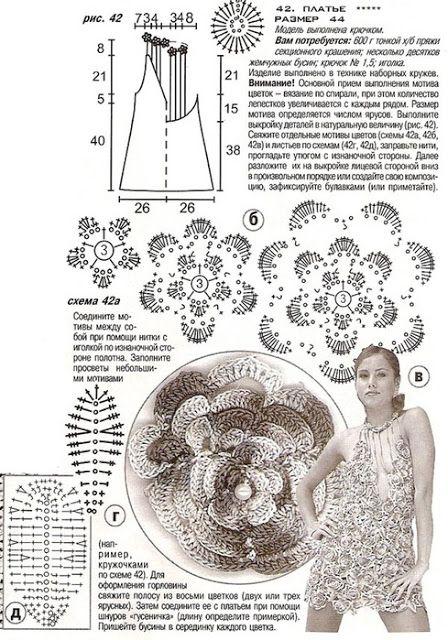 VESTIDO AZUL DE FLORES   COM PÉROLAS