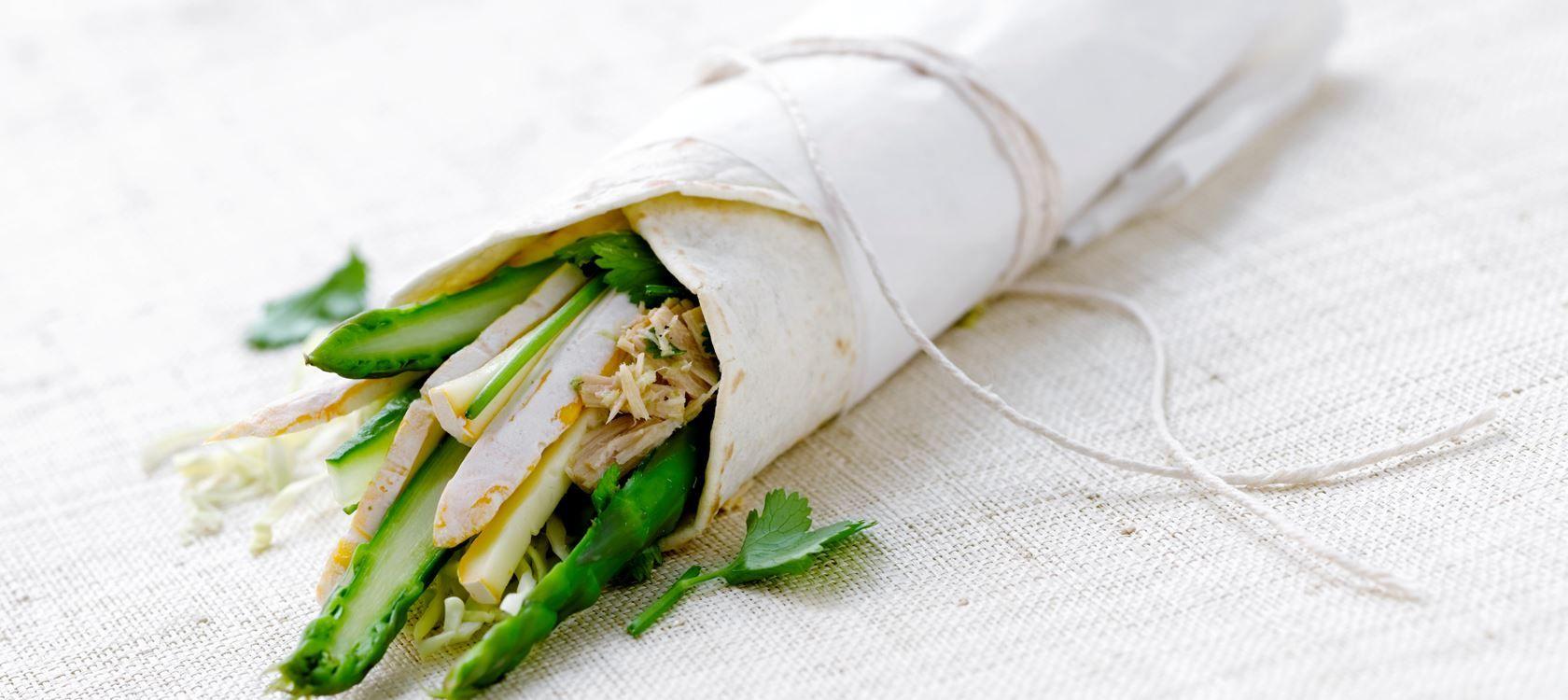Wraps med ost og thaikrydret tun Nem Opskrift fra Arla