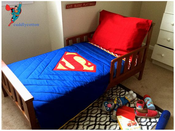 Superman Toddler Bedding Set Toddler Quilt By Cuddlycotton