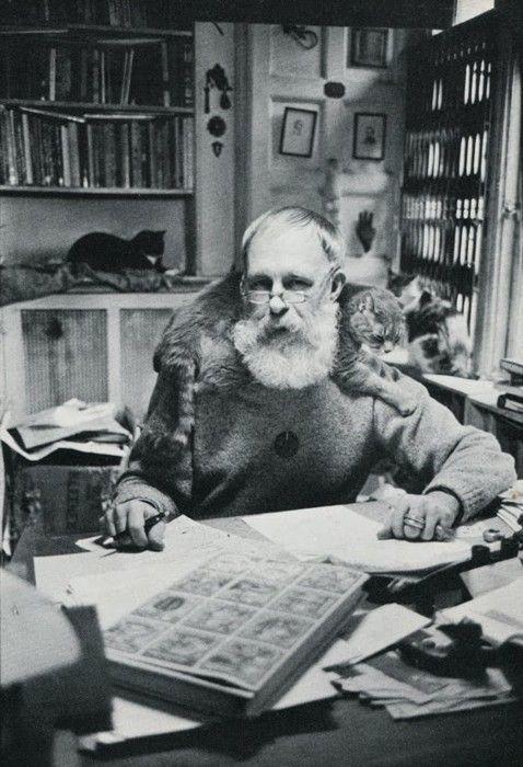 edithshead:    Edward Goreyfrom The Photographed Cat (Doubleday, 1980)