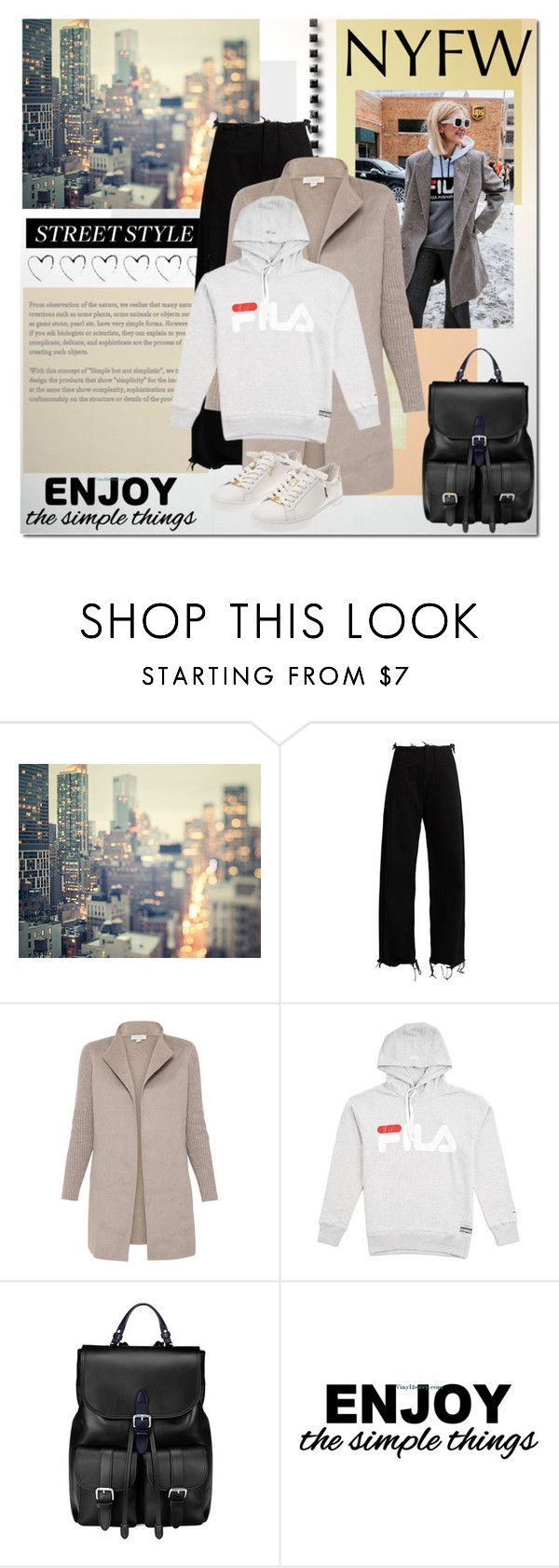 """""""NYFW Street Style"""" by elena-777s ❤ liked on Polyvore featuring WALL, Marques'Almeida, Kinross, Fila, Aspinal of London, Michael Kors, StreetStyle, NYFW, Newyork and 2017"""