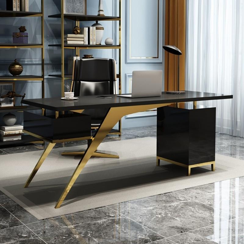 Ultra Modern White Black Writing Desk, Ultra Modern Office Furniture