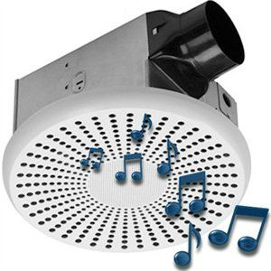 ventilation fan with stereo bluetooth speakers and led lights rh pinterest com