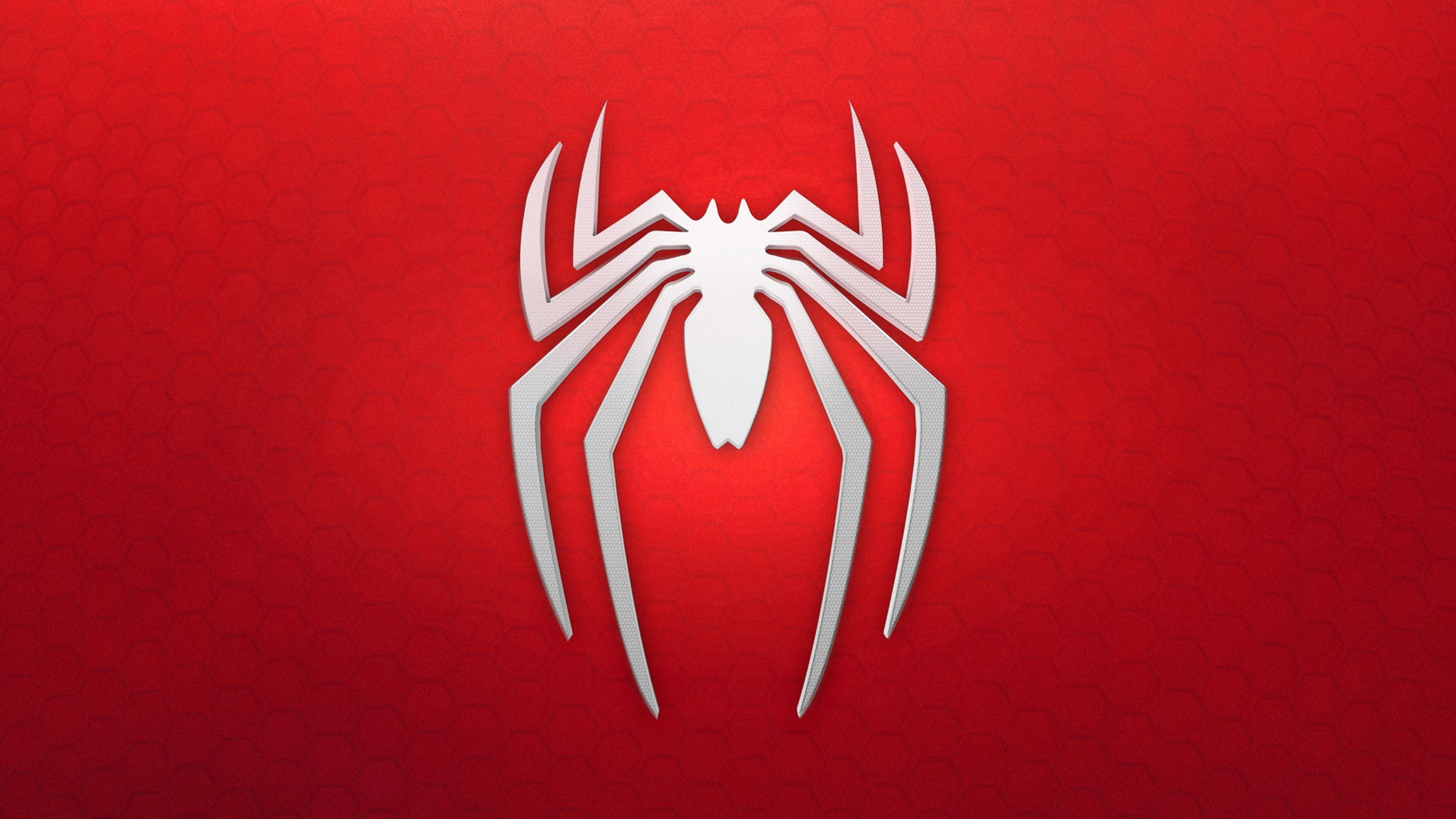 Spiderman 4k Logo Background Super Heroes Wallpapers Spiderman Wallpapers Red Wallpapers Spiderman Ps4 Wallpaper Hero Wallpaper Background Images Wallpapers