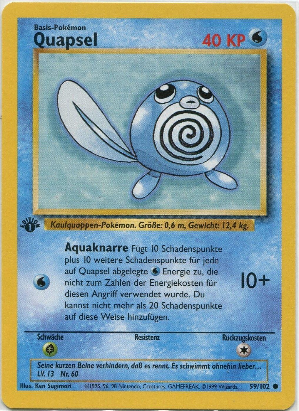 Poliwag Pokemon Card 59//102 Base Set