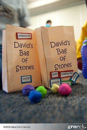 David's Bag of Stones | Preschool bible lessons, Sunday ...