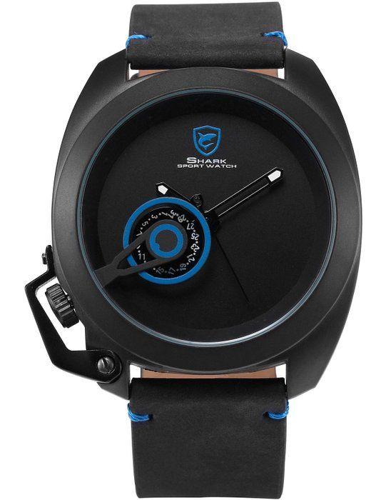 e63695d34de1 SHARK Reloj Hombre Analógico de Cuarzo