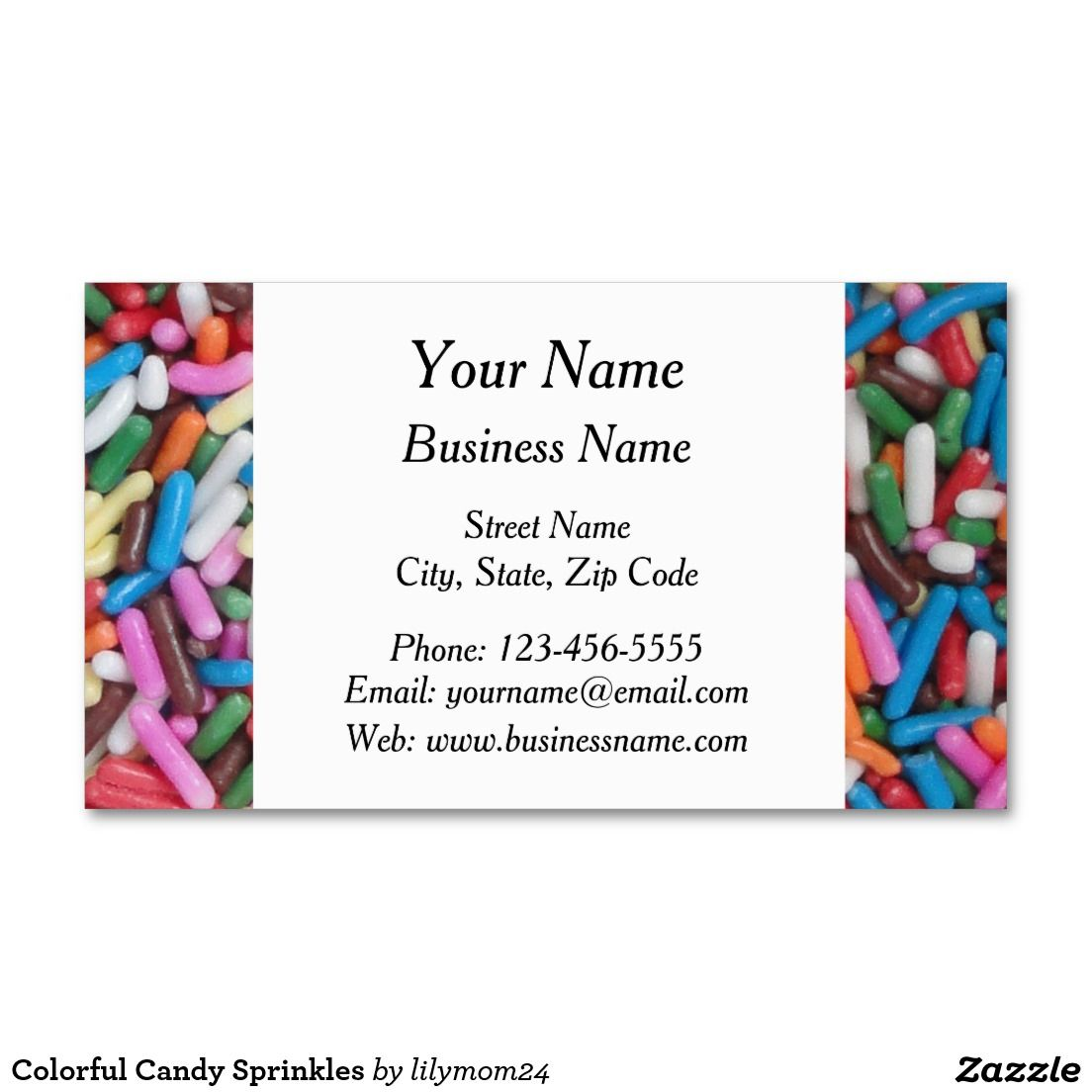 Colorful Candy Sprinkles Business Card | Colorful candy, Business ...