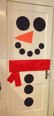 Make A Fun Snowman Door with Kids. Christmas Crafts for Kids  The Chirping Moms & Christmas Activities and Crafts For Kids | Snowman door Snowman and ...