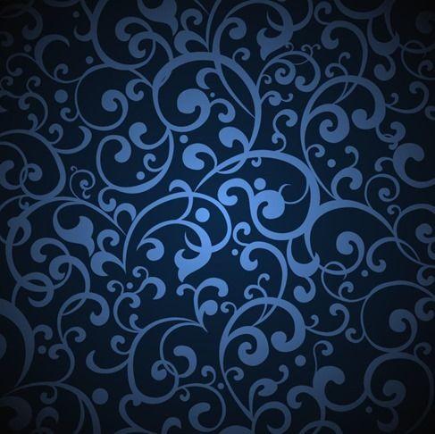 Vintage Blue Background Illustration Vector Graphic Vintage Floral Pattern Background Blue Background Patterns Blue Backgrounds