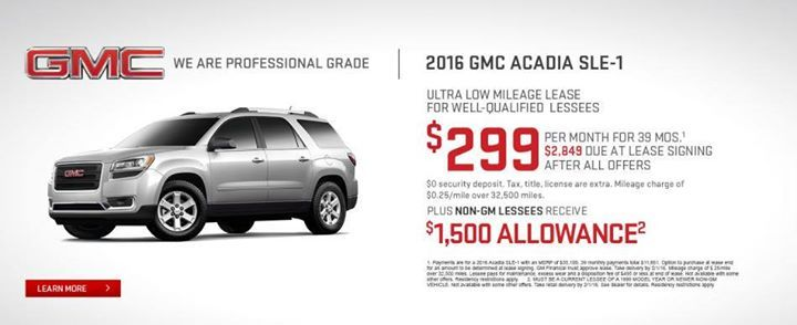 Shopping For A New Gmc Acadia Stop By To Take Advantage Of This Great Offer Specials Buick Gmc Gmc Acadia