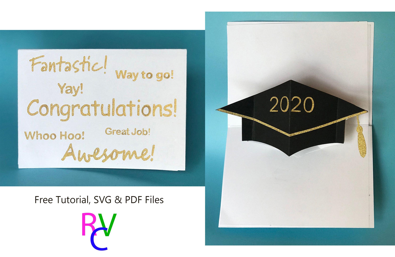 Graduation Cap Twist Pop Up Card For Cricut Or Printable Fun Fold Cards Twist Pop Cards