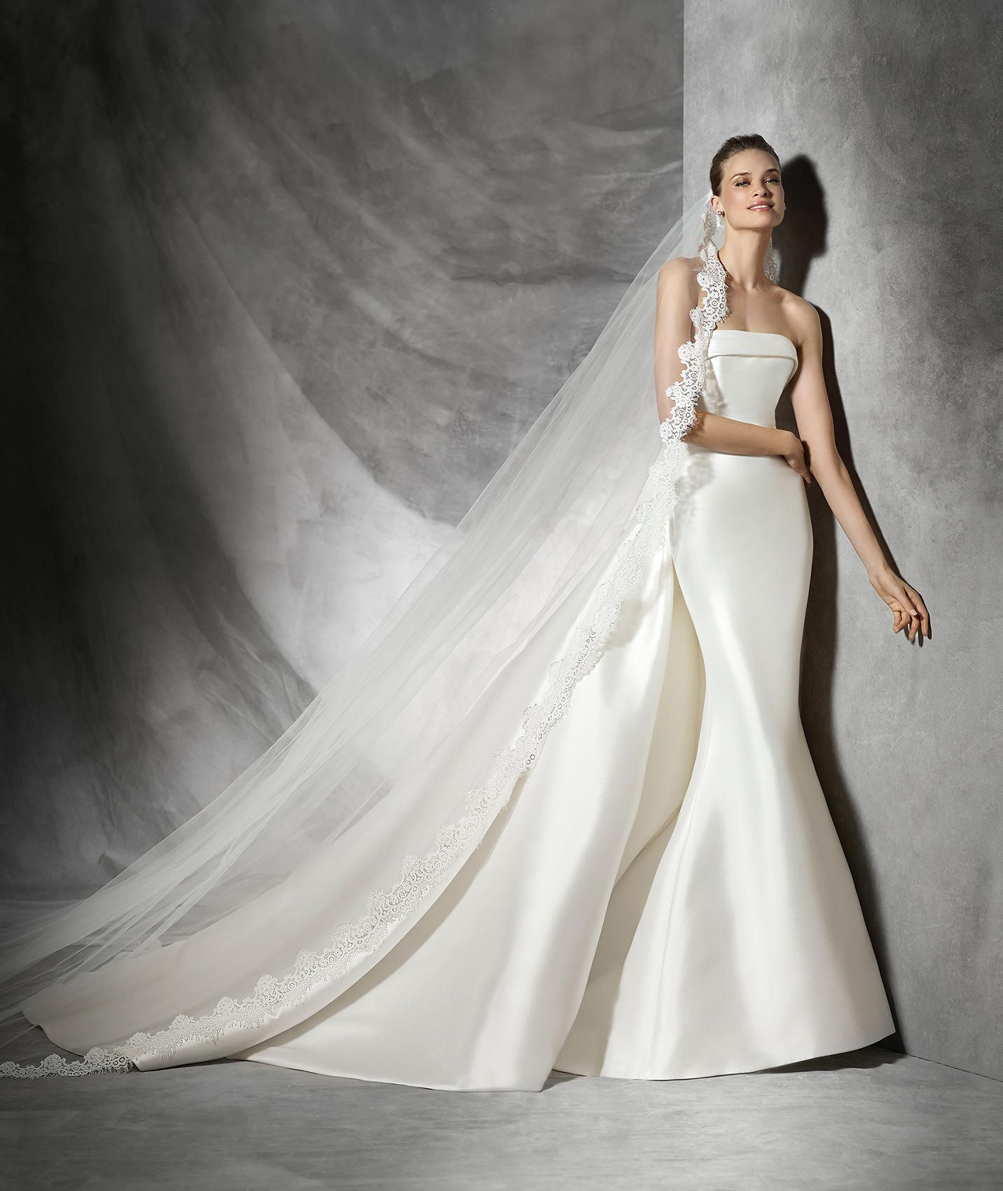 Tasiala, simple wedding dress with strapless neckline | Wedding ...