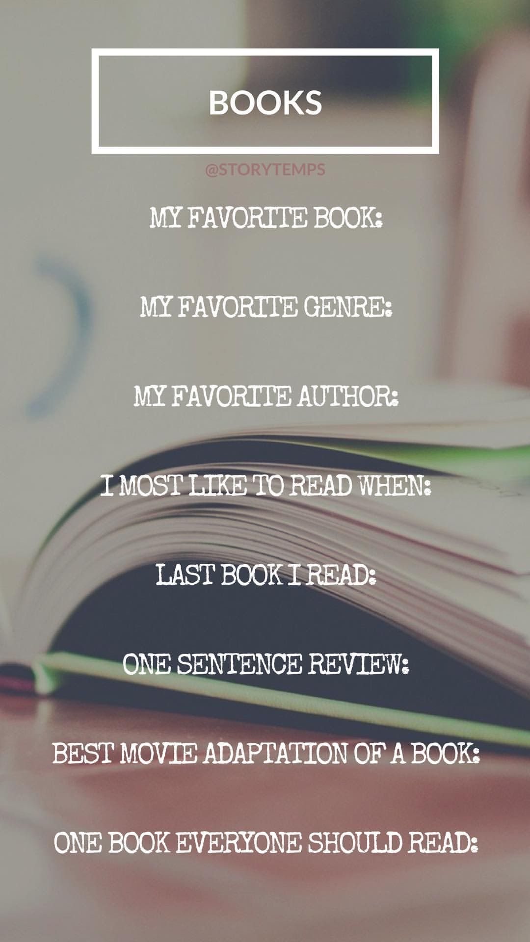 Book questions. #storytemps #storytemplates #storygames #instagram ...
