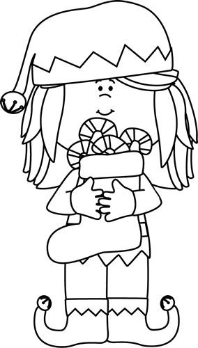 Black And White Black And White Girl Christmas Elf Christmas Elf Elf Images Christmas Girl