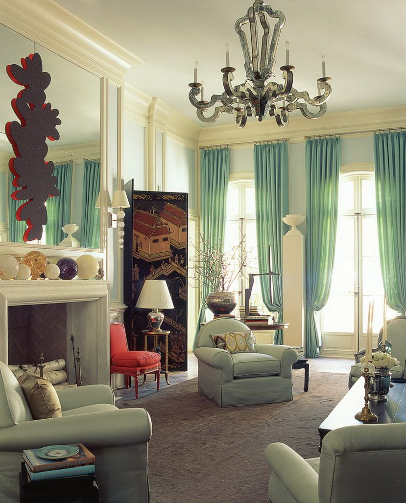 Grand Theme Of Living Room Classy Home Decor With Green Furniture Of Curtain Also Arm Chairs With Cu Nobles Wohnzimmer Grune Wohnzimmer Wohnzimmer Inspiration