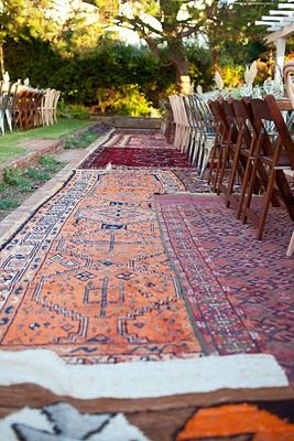 Would love to have a yard where I could use rugs like these. Absolutely stunning