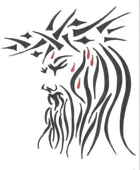 Tribal Jesus Tattoo : tribal, jesus, tattoo, Affeldt, Shirt, Wearing!, Jesus, Tattoo,, Tattoo, Sketches,, Tribal, Shoulder, Tattoos