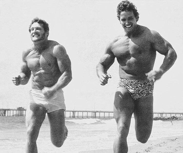 Golden Era Athletics On Instagram Cardio For Breakfast Arnold Schwarzenegger Nicknamed The Austrian Oak 7 Arnold Schwarzenegger Frank Zane Schwarzenegger