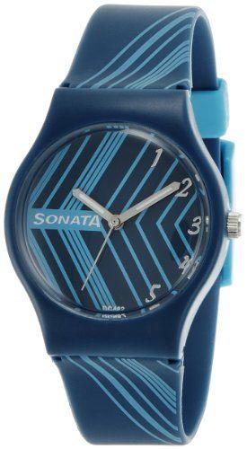 Sonata Fashion Fibre Analog Blue Dial Women's Watch – 8988PP2