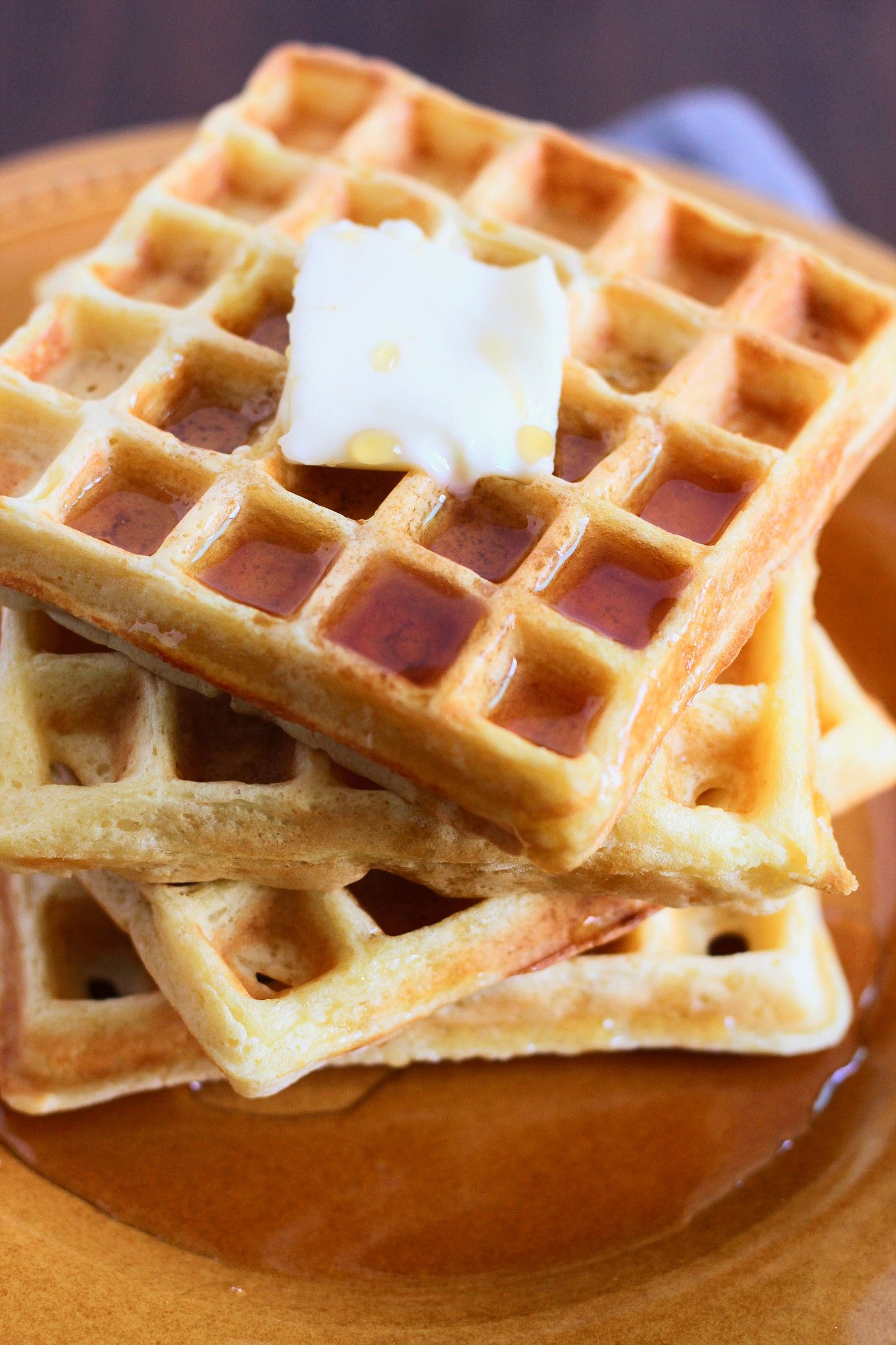 Fluffy Buttermilk Waffles Modern Crumb Recipe Homemade Waffles Waffle Recipes Waffles Recipe Homemade
