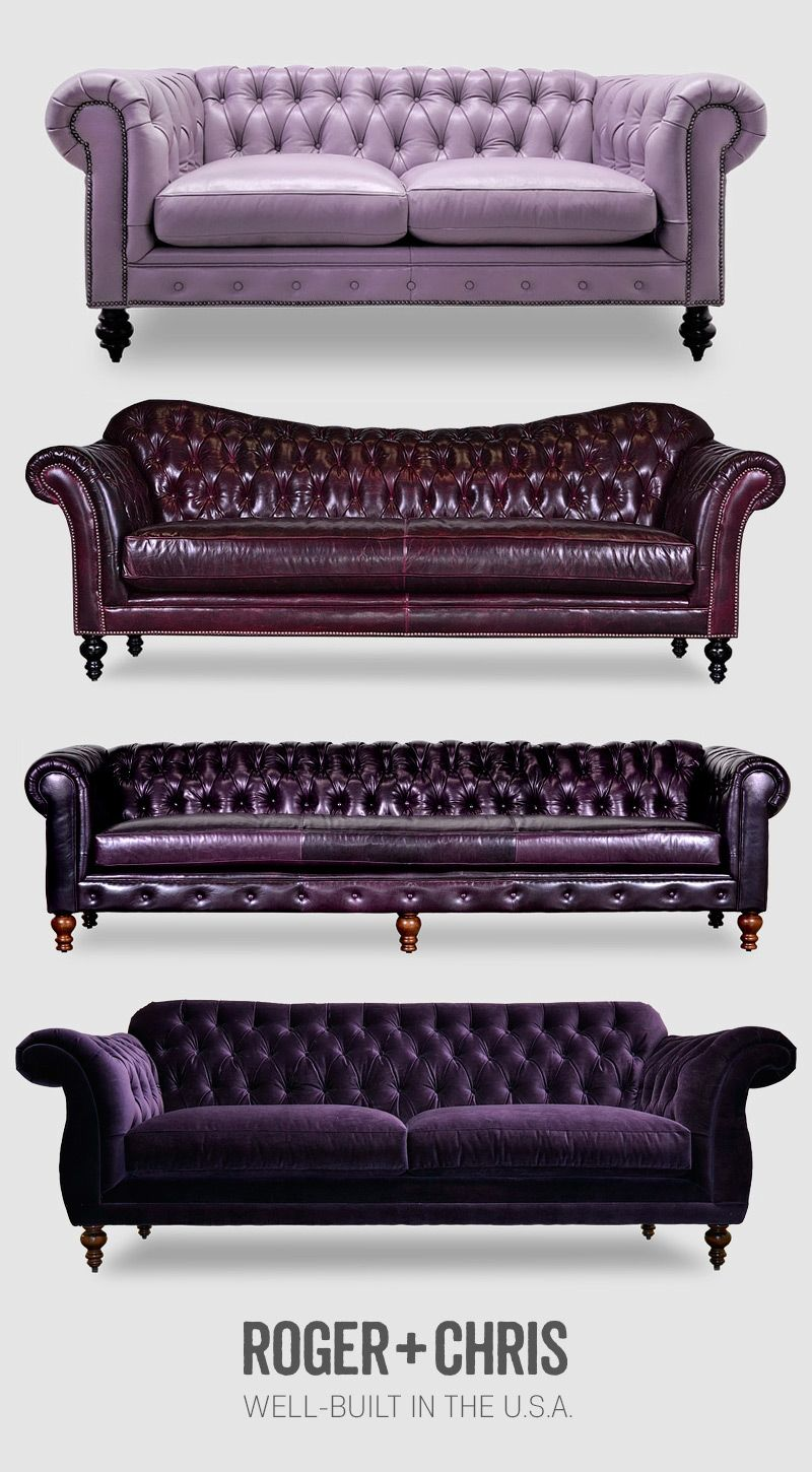 Purple Leather Sofas Purple Leather Chesterfield Purple Couches