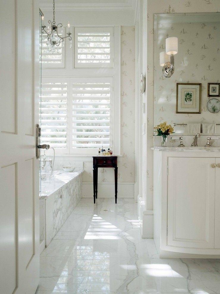 Dishy Bathroom Baseboard Ideas With White Wood Floor Tile
