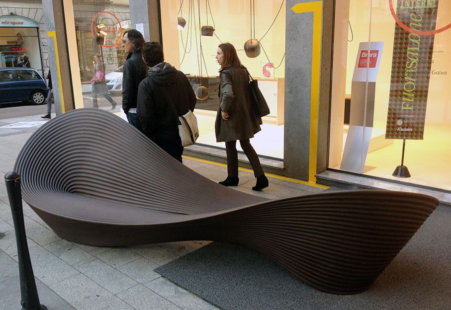 Salone del Mobile 2013: Folly bench by Ron Arad for Magis | Milano ...