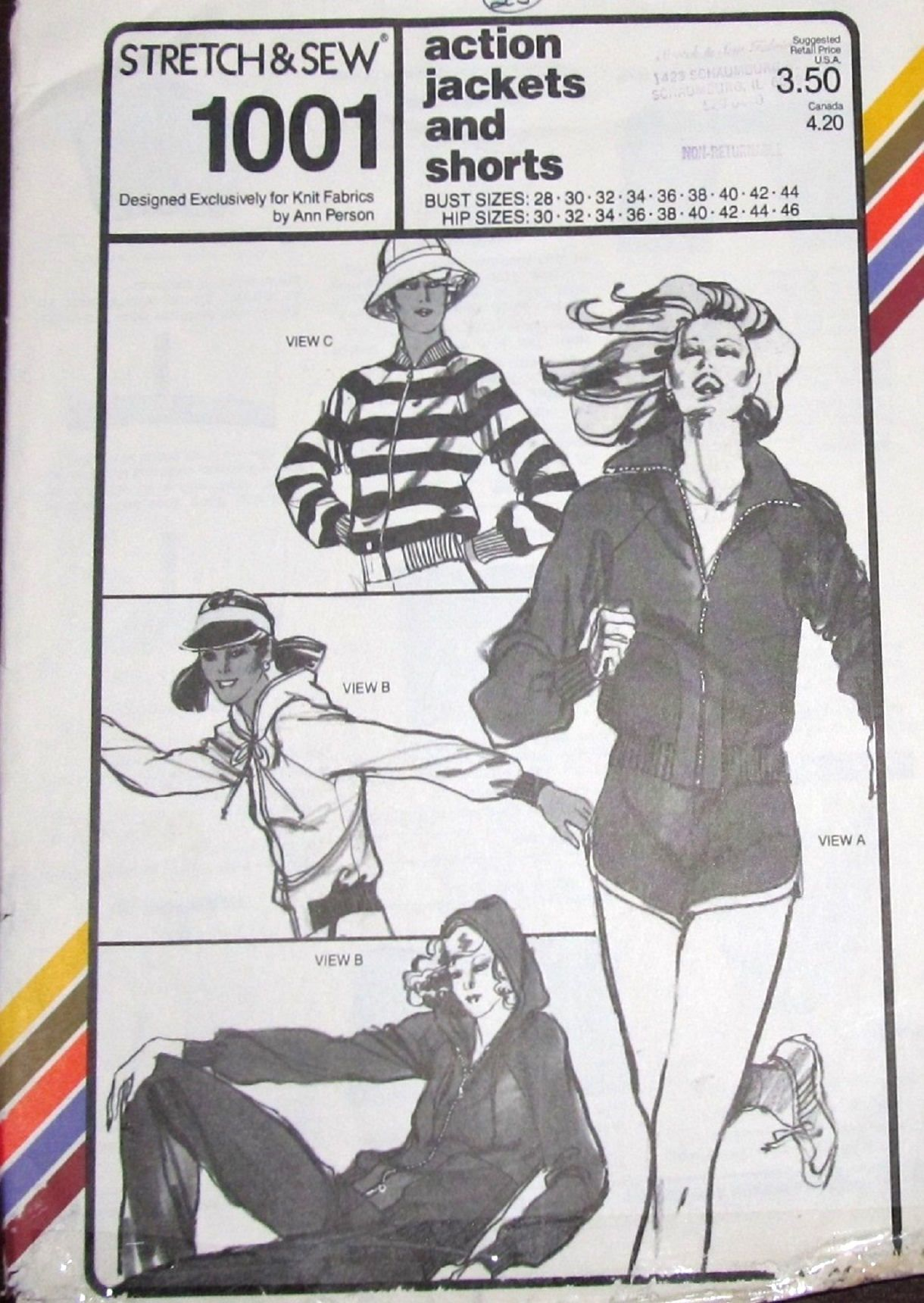 Vintage 1970s Ann Person Stretch & Sew Sewing Pattern 1001 Hoodie ...