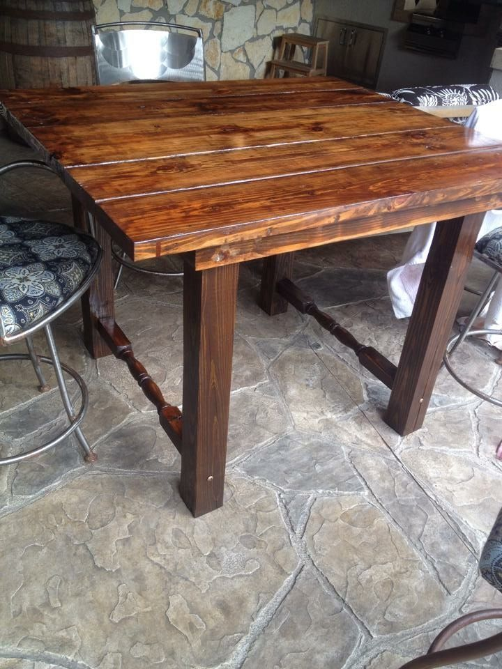 Reclaimed Wood. High Top Table.