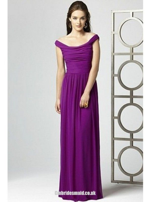 2013 sweet bridesmaid dresses Chiffon Off-the-shoulder Sleeveless Uk ...