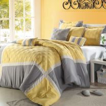 60 Visually Pleasant Yellow And Grey Bedroom Designs Ideas - ROUNDECOR #graybedroomwithpopofcolor