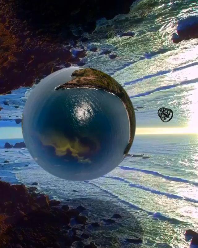 Inverted World Video In 2020 Fantasy Landscape Space Artwork Wallpaper Earth